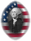 George Washington on American Flag