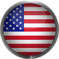 American flag button with steel frame