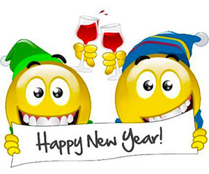 Happy New Year with wine