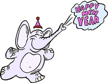 elephant celebrating the new year