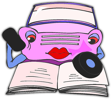 car reading book
