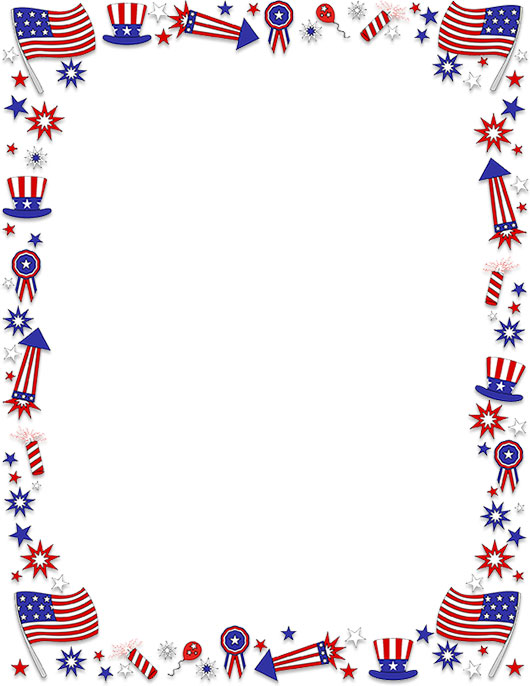Free 4th Of July Border Clipart Frames Borders