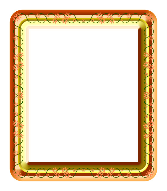 orange yellow frame
