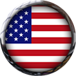United States Of America Flag button clipart