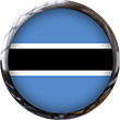 Botswana Flag Button