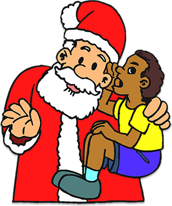 child sitting on Santa's lap Royalty Free Vector Clip Art illustration  -vc061307-CoolCLIPS.com