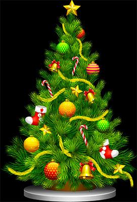 Free Animated Christmas Trees Christmas Tree Clipart