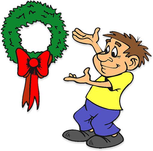 Cartoon Clip Art Christmas Wreath Images