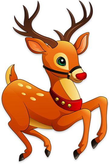 Rudolph about to fly