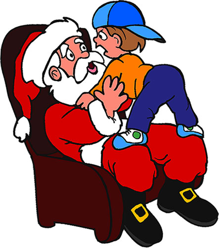 boy on Santa's lap