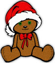 teddy bear for Christmas