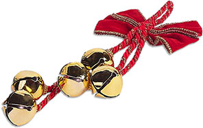 Image result for gold christmas bell gif