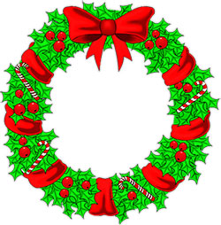 Free christmas wreaths clipart christmas clipart