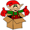 elf in the box