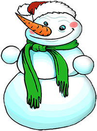jolly happy snowman