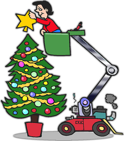 a little help decorating the christmas tree - Free Christmas Images Clip Art