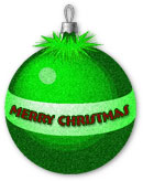 Christmas ornament with Merry Christmas