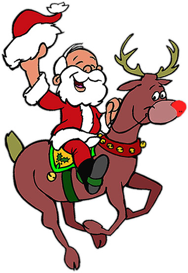 Free Christmas Clipart - Rudolph The Red Nosed Reindeer