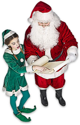 Santa with Elf clipart image