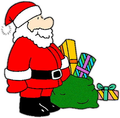 Free Christmas Clipart  Santa With A Sack Full Of Presents