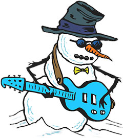 snowman and his guitar