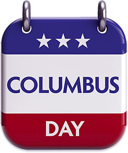 Columbus Day sign