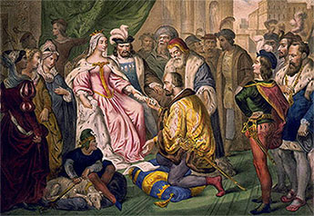 Columbus and queen Isabella