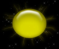 yellow sun and stars background