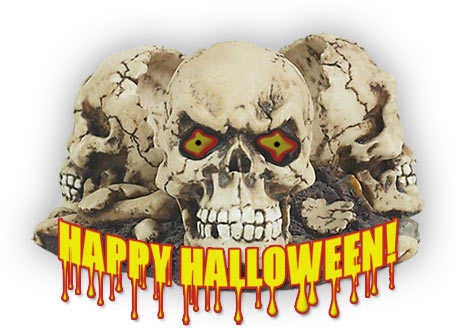 happy halloween 3 skulls - Halloween Skulls Pictures
