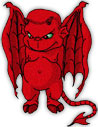 red devil with wings