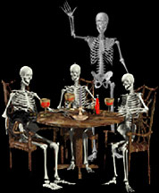 skeletons having a party
