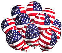 American flag balloons clipart