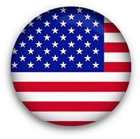 round American Flag button