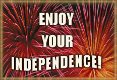 enjoy your independence with fireworks