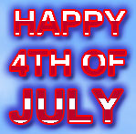 red and white Happy 4th of July on blue background - jpeg