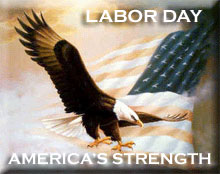Labor Day America's Strength of an eagle