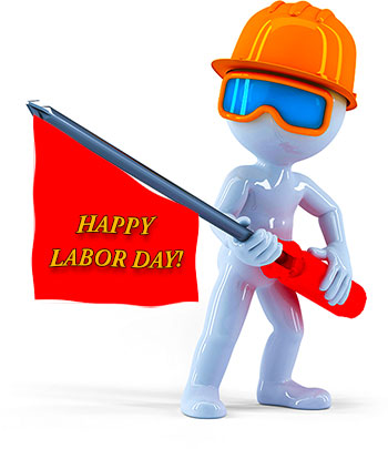 3D worker on Labor Day