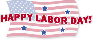 happy labor day with stars