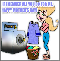 mom washing clothes
