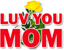 luv you mom yellow rose