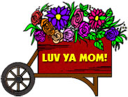 huge wagon of flowers for mom