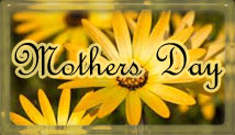 Mothers Day with yellow flowers and frame