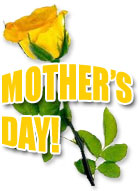 mothers day with yellow rose