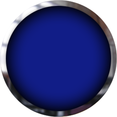 blue button with chrome frame