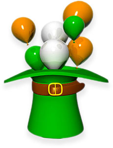 Irish hat balloons