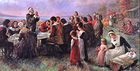 the first thanksgiving with pilgrims and indians