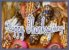 Happy Thanksgiving on harvest corn