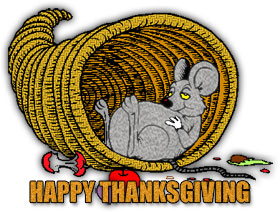 happy thanksgiving clipart fat rat