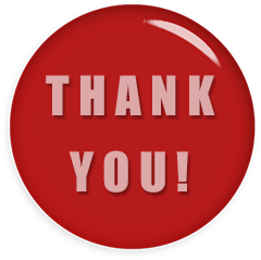 red and white thank you button