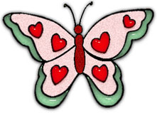 butterfly with hearts